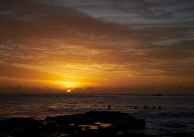 Dee Why Beach Surfer and Sunrise