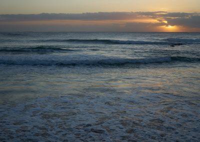 Dee Why Beach Sunrising Behind Clouds