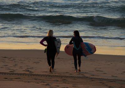 Queenscliff Beach Morning Two Women Surfers