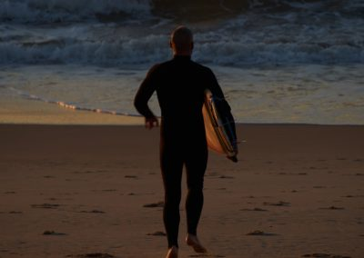 Queenscliff Beach Morning Surfer Entering the Water